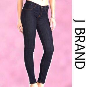 J BRAND Skinny Dark Wash Slght Distress Jeans 26